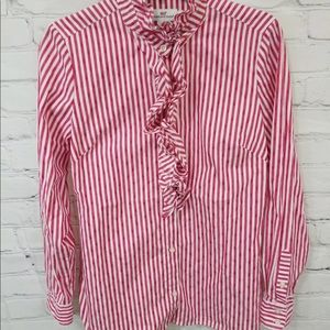 Vineyard Vines Womens Size 6 Button Up Blouse